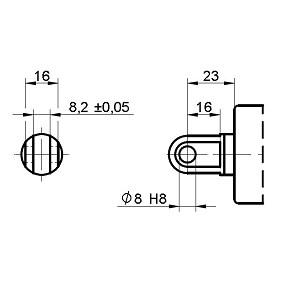Picolo XL optie voor: Vork stangkant