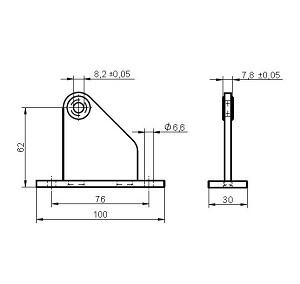 Lagerblok tbv PICOLO 62 mm hoog